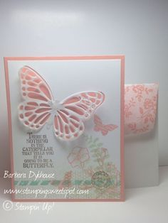 Butterfly Basics by Barbara Dykhouse, Did you know that the lace pattern on the medium butterfly in this stamp set matches the I Love Lace BG stamp?