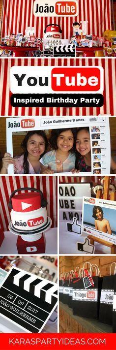 Youtube Themed Birthday Party via Kara's Party Ideas - KarasPartyIdeas.com