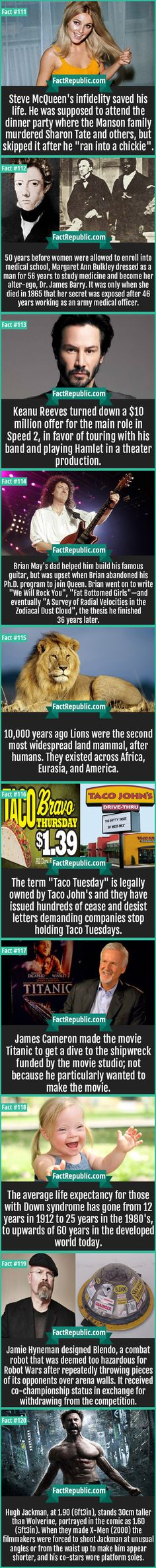 Cool stuff you probably didn't know