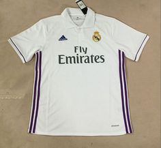 Real Madrid Home Jersey: www. Real Madrid Soccer, Polo Ralph Lauren, Polo Shirt, Mens Tops, Shirts, Fashion, Real Madrid Football, Moda, Polos