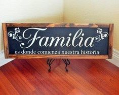 Spanish home decor,Familia wall frame,Farmhouse signs,Farmhouse wood signs, wall hangin Spanish Home Decor, Spanish Style Homes, Mediterranean Home Decor, Spanish House, Farmhouse Signs, Farmhouse Decor, Hanging Quotes, Family Wood Signs, Home Decor Quotes