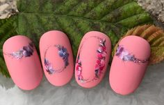 Flowers made in 1 min One Stroke Nails, Crystal Nails, Nail Artist, Spring Nails, Flower Art, Manicure, Nail Designs, Make Up, Crystals
