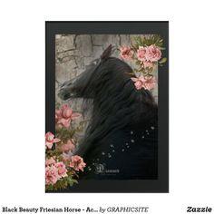 Black Beauty Friesian Horse - Acrylic Art Horse Posters, Photo Composition, Friesian Horse, Acrylic Art, Custom Posters, Dog Design, Funny Cute, Custom Framing, Poster Prints