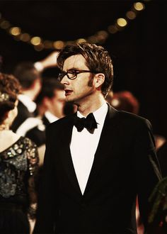 David tennant wearing a BOW TIE....