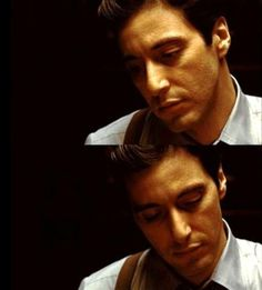 .Al Pacino typical Godfather look