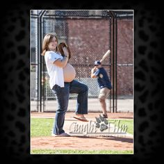 baseball maternity photography