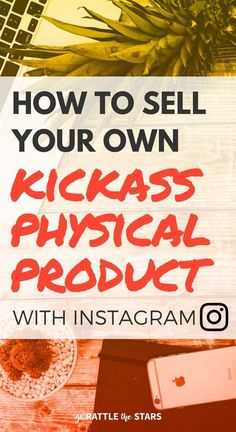 How to sell your own branded products on Instagram, such as t-shirts, hats, tote bags, mugs, home decor, or other apparel. | Social media | Make money online | creative business
