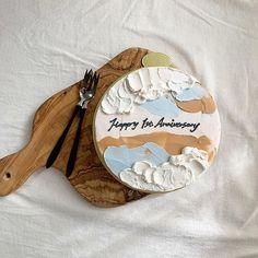 Pretty Birthday Cakes, Pretty Cakes, Beautiful Cakes, Mini Cakes, Cupcake Cakes, Korean Cake, Buttercream Birthday Cake, Pastry Cook, Pastry Design