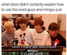 18 ideas for memes kpop english seventeen Woozi, Jeonghan, The8, Kdrama Memes, Funny Kpop Memes, Bts Memes, K Pop, Steven Universe, Got7