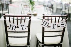 Shabby Chic Black White Chairs Outdoor Reception Wedding Reception Photos & Pictures - WeddingWire.com