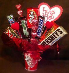 Valentine Candy Bouquet Ideas 22