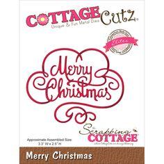 CottageCutz - CottageCutz Elites Die - Merry Christmas