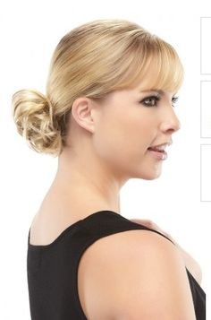 Playful Hair Piece by Jon Renau. A curly elegant ponytail wrap to be added to any bun or ponytail. Attached to an elasticized band, this hair wrap scrunchie is easy to put on for a fast and elegant updo with light curls. Available at www.wigsonline.com.au