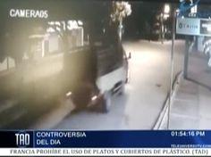 Difunden video de aparatoso accidente en Villa Tapia