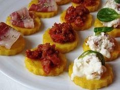 la buona cucina di katty: Tris di bruschette di polenta