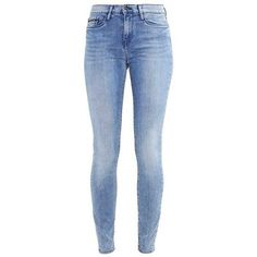 Calvin Klein Jeans HIGH RISE SKINNY YESTERDAY (1 260 SEK) ❤ liked on Polyvore featuring jeans, blue jeans, denim jeans, super high-waisted skinny jeans, high waisted skinny jeans and high-waisted skinny jeans