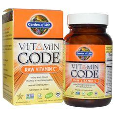 Garden of Life, Vitamin Code, Raw Vitamin C, 60 Vegan Caps - iHerb.com