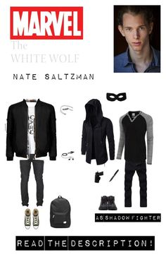 """""""Marvel: Nate Saltzman (Shadow Fighter) (Read the d!)"""" by nerdbucket ❤ liked on Polyvore featuring Jimmy Choo, COMUNE, LE3NO, Converse, Old Navy, WeSC, Handle, men's fashion and menswear"""