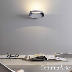 Bonnet Wall Lamp not only lights itself up but also produces a downwards glow. #fontanaarte #walllamp #led #odofioravanti Available at allmodernoutlet.com  http://www.allmodernoutlet.com/fontanaarte-bonnet-wall-lamp/
