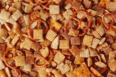 The slow-cooker fix for a big batch of snack mix that won't fit in the microwave or oven.
