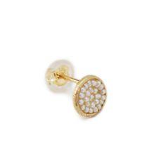 little emblem gold  pierced earring akoya pearl LE-AP71(1Piece) #littleemblem #piercedearring #gold #akoya pearl #ruby #em #emgrp