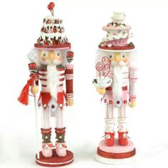 2012 Kurt Adler Holly Wood Cake Hat Nutcrackers 2 Assorted > Amazing deals just a click away : Nutcrackers Candy Land Christmas, Nutcracker Christmas, Pink Christmas, All Things Christmas, Christmas Crafts, Christmas Decorations, Christmas Ornaments, Holiday Decor, Christmas Ideas