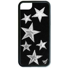 Black Velvet Silver Star iPhone 7 Case ($38) ❤ liked on Polyvore featuring accessories and tech accessories