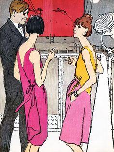 Illustration by Jack Potter for Vogue Magazine, May 1965