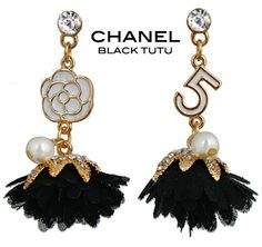 Chanel Tutu Earrings Please do not wear your Fake chanel necklaces around me ;)
