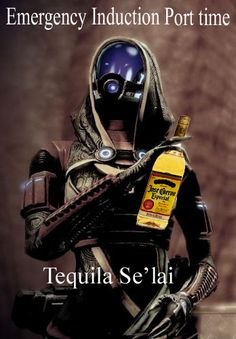 exactly what i thought yesterday... AFTER the extended cut: Tequila Se'lai! #masseffect