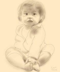 Toddler, digital sketch (2011), by @sho31942