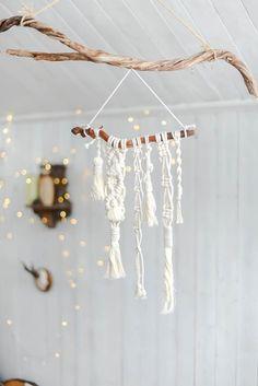Macrame wall hanging, Small Macrame wall hanging, Bohemian home decor, Macrame room decor, Boho drea Boho Ideas, Dream Catcher Boho, Star Flower, Bunting Banner, Diy Hanging, Home Decor Items, Pine Cones, Rock Art, Sea Glass