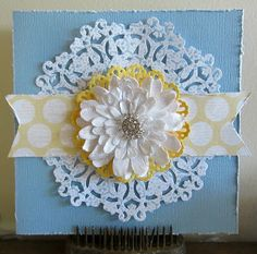 kerrie gurney [its all about ME]   Couture Creations Doily Dies, Flowers, Diamonte Buckles