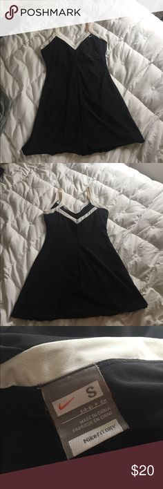 Nike Fit Dry Tennis Dress in black Very very faint armpit stains shown in last pic. Nike Dresses