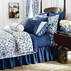 1000 Images About Navy And White Bedding On Pinterest