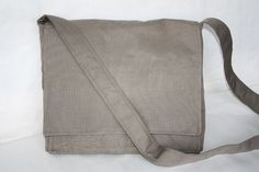 Basic Grey Messenger Bag by simplifyme on Etsy, $45.00