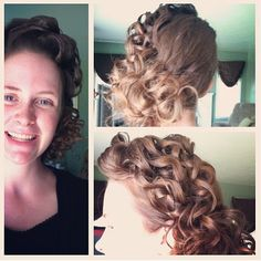 pretty but do a pin curl bun!!