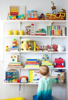 20 kid room shelves with styling you ll want to copy the kid s rh pinterest com childrens bedroom shelving ideas Bedroom Storage