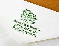 Hand Drawn Custom Wedding Address Stamp by ReadyMakerDesign, $39.00