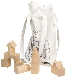 Excellent for the first construction attempts! Polished with bee's wax and stored in a practical cotton bag. Wooden Building Blocks, Wooden Blocks, Toddler Toys, Kids Toys, German Toys, Wooden Buildings, Baby Shirts, Baby Boutique, Cotton Bag