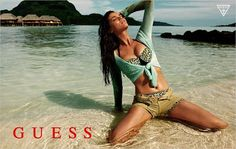 Model Natasha Barnard (IMG) features as summer bronzed beach goddess in the new GUESS Summer 2013 campaign. Photographed by Yu Tsai. Guess Ads, African Models, Fashion Advertising, Si Swimsuit, Swimsuits, Swimwear, Couture Fashion, American Apparel, Summer Outfits