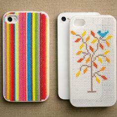 cross stich iPhone case (DIY)