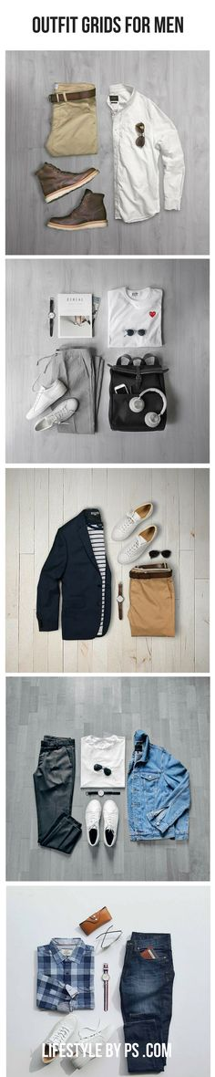 Awesome Outfit Grids For Men.