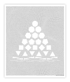 Flatland Hierarchy of Shapes Graphic Art