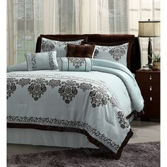 Light Blue and Brown Bedding | Blues
