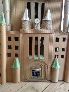 Cardboard skyscraper detail