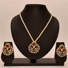 Anvi's chand bali with pendent and pearls chain - Online Shopping for Pendants by Anvi Collections