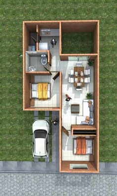 Small House Floor Plans, Dream House Plans, Modern House Plans, Container House Plans, Container House Design, Small Space Interior Design, Small House Design, Casas Containers, Apartment Layout