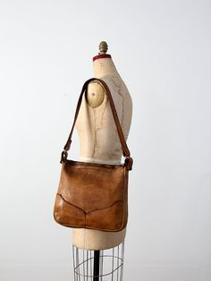 vintage 70s leather bag / brown boho purse by 86Vintage86 on Etsy