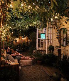 Small Backyard Design, Small Backyard Landscaping, Backyard Ideas, Patio Ideas, Outdoor Rooms, Outdoor Living, Small Outdoor Spaces, Small City Garden, Small Garden Landscape